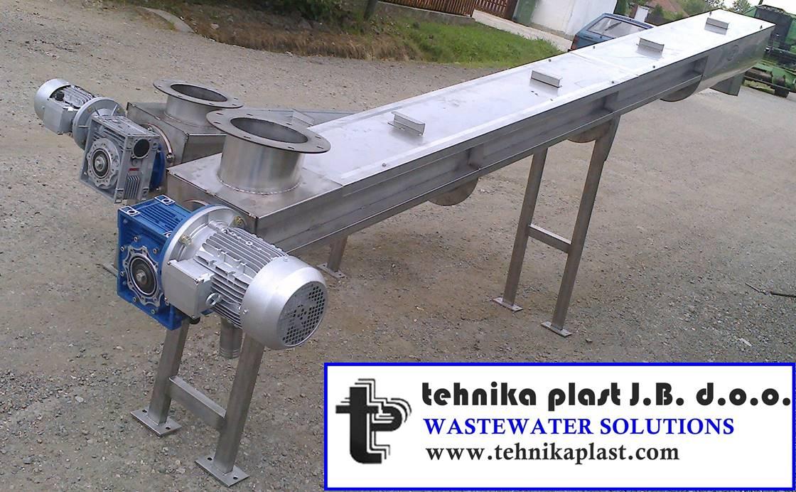 Pužni transporteri-Tehnika plast